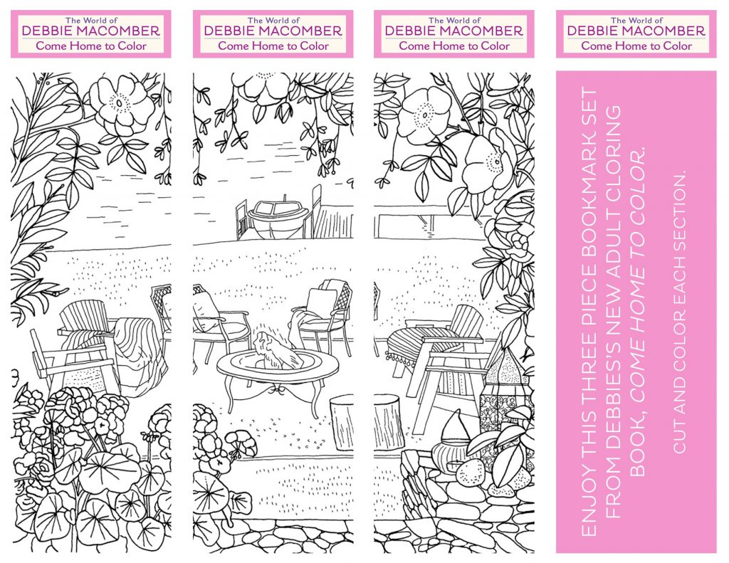 come home to color bookmark set printable u2014 debbie macomber