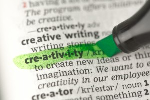 Creativity definition highlighted in green in the dictionary