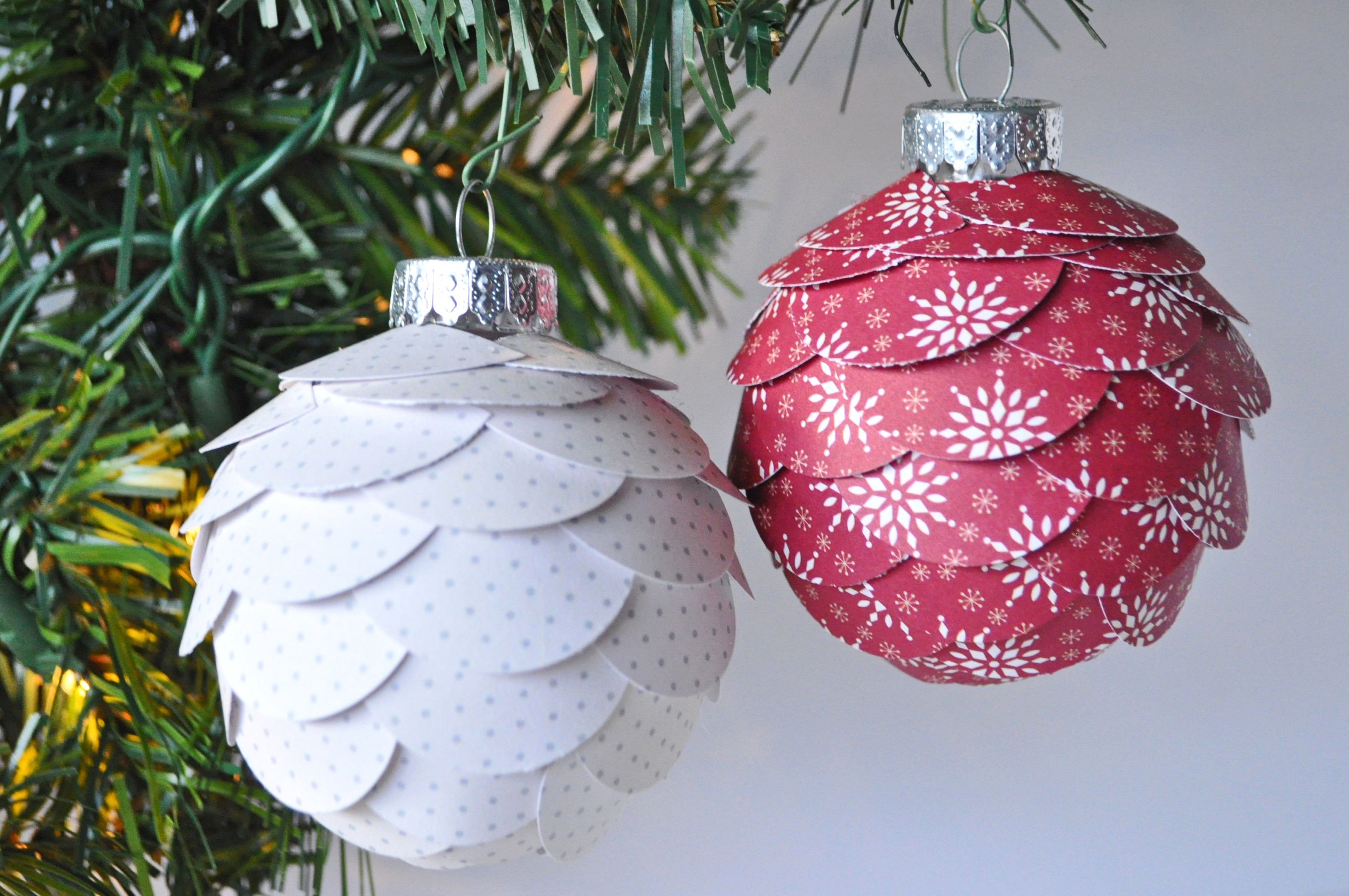 DIY Scalloped Christmas Ornaments — Debbie Macomber