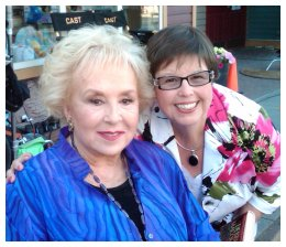 Debbie and Doris Roberts on the set of Call Me Mrs. Miracle